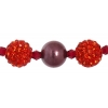 Shamballa Beads Orange 8In Strand